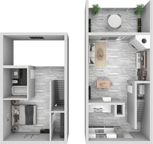 A1 - One Bedroom / One Bath - 775 Sq. Ft.*